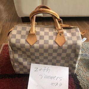 Louis Vuitton speedy 25 azur wallet